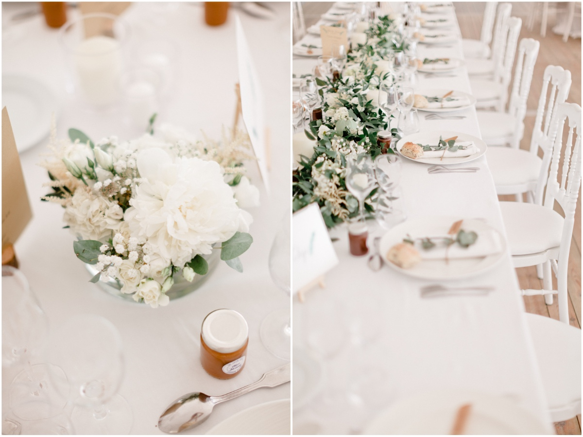 décoration de table d'un mariage