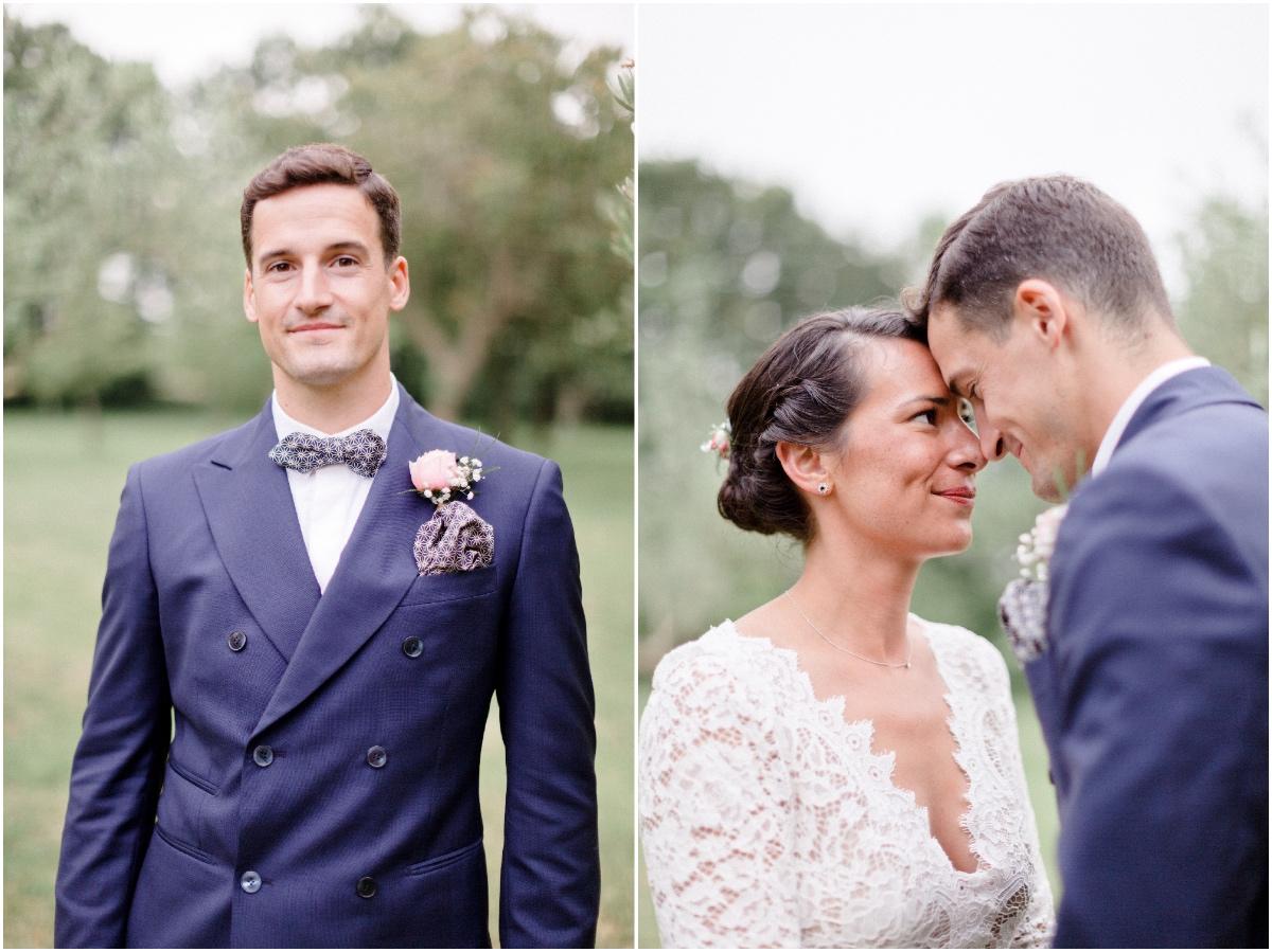 séance photo d'une couple de jeunes mariés.
